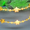 Colorful Glass Star Shape Beads Strands Hanging Ornament