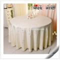 100% Polyester Runde Champagner Leinen Hochzeit verwendet Tischdecke zum Verkauf