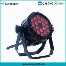 Luzes exteriores de alumínio do diodo emissor de luz de IP65 18 * 10W RGBW