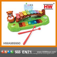 Прекрасное детское пластиковое пианино с музыкой и легкими ксилофоновыми нотами