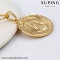 32654 Wholesale Dubai gold round shape design gold religion Jesus style pendant jewelry