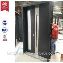 America style front door design, security wood armored door with glass, America doors                                                                         Quality Choice