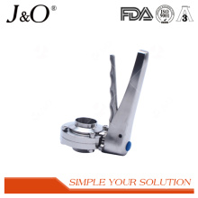 Stainless Steel Sanitary Weld Male Butterfly Valve with Ss Handle