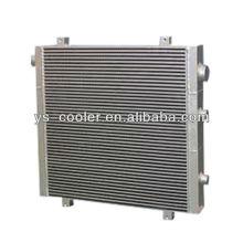 Trocador de calor de tipo aleta de alumínio para compressor de parafuso