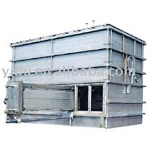 Secador de cama de fluido de calentamiento interno usado en aminas hidrogenadas