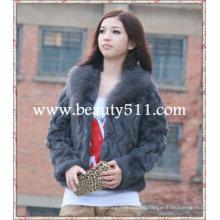 Fah001 OEM venta al por mayor de piel de prendas de vestir de piel de ropa de piel de conejo de piel de visón piel de ropa chaqueta de piel