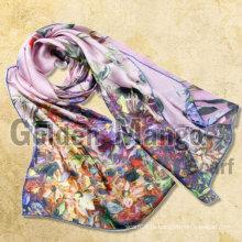 100% шелк моды цифровой печати оптом шелковые шарфы
