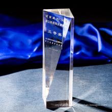 Grabado sin premio de la columna de cristal del trofeo cristalino K9 simple