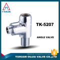 """1/2*3/4"""" brass angle valve with chromed plated basin bathroom toilet lead free stainless steel material three way check in oujia"""