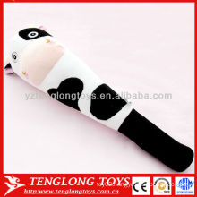 Welcomed factory price soft cow plush massage toys