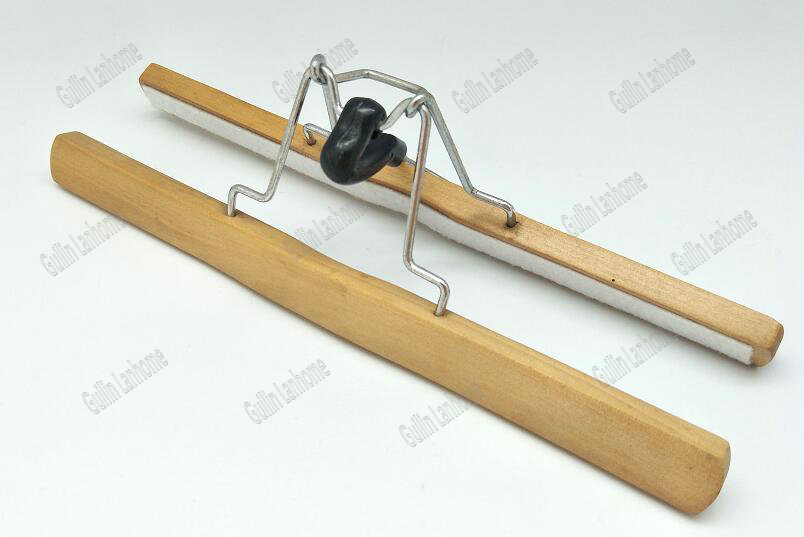 Natural Durable and Solid Wooden Skirt Hangers