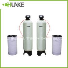 Sistema de filtro de amaciador de água para equipamentos de tratamento de água