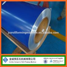 Revestimento superior 15-25um, revestimento posterior 5-15um bobinas de aço PPGI