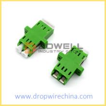 LC Duplex Adapter with Inner Shutter