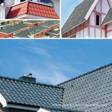 Haus Dach Modell Farbige Verriegelung Terrakotta Dachziegel