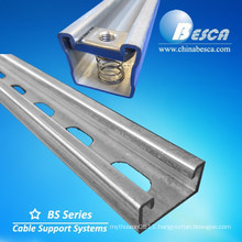 Hot Dip Glavanized Steel Slotted Strut Channel C Channel Unistrut Uni Strut Channel with CE, SGS, UL Certificates