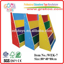 2014 new kids wooden bookshelf ,popular preschool wooden bookshelf ,hot sale preschool bookshelf