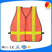Plastic orange safety vest wholesale