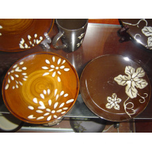Juego de cena de cerámica pintada a mano