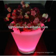 подсветкой плантатор горшки Цвет Сид изменяя Цветочный горшок СИД напольные светящиеся горшки плантатор