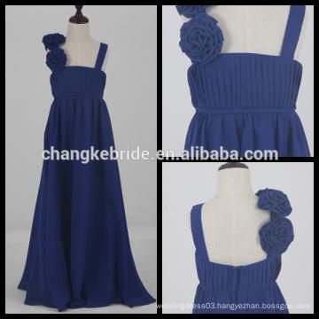 Kids White Communion Dress Floor Length Flower Girl Dress Real Photos Chiffon Girl Dress