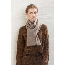 2016 nuevo diseño 100% cachemir largo llano bufanda de color