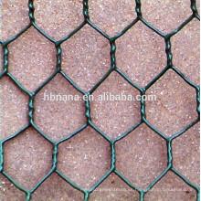 Malla de alambre hexagonal revestida de PVC / red de malla de alambre hexagonal
