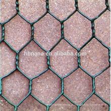 Malha de arame hexagonal revestido de PVC / rede de malha de arame hexagonal