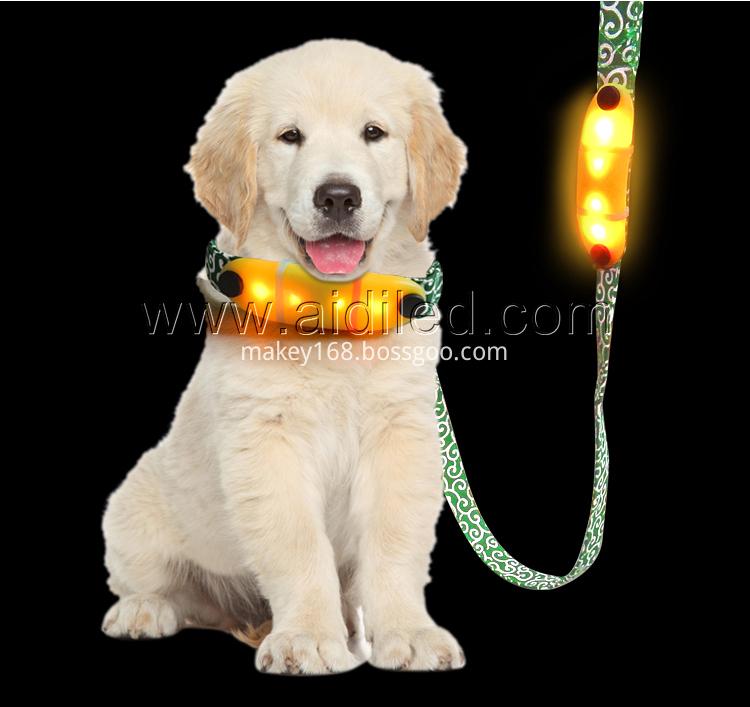 Nylon Flashing Dog Lead