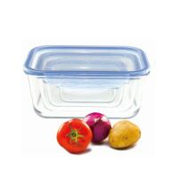 Caixa de armazenamento de vidro retangular para Microvave
