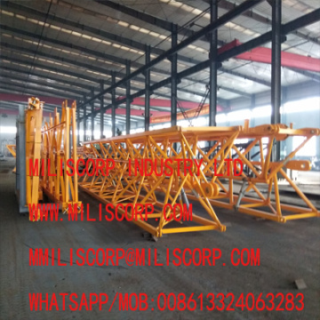 Well welded and processed tower crane jibs