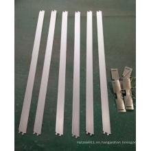 Perfil de aluminio para lámpara de rejilla