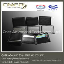 Portefeuille sécurisé sans fibre de carbone, brillant, mat, pince à billets / sac à main en fibre de carbone