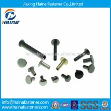 Différentes tailles Rivets tubulaires en acier inoxydable / Rivets tubulaires en laiton / Rivets tubulaires en aluminium