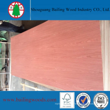 Natural Red Solid Veneer Plywood 5mm