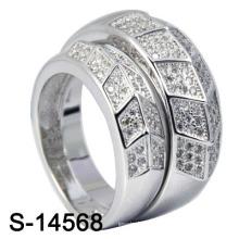 Rhodium 925 Sterling Silber Schmuck CZ Ring Sets (S-14568)