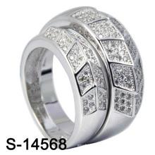 Родий Стерлингового серебра 925 CZ Кольцо наборы (S-14568)