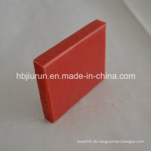 0.91-0.97g / cm3 Dichte pp. Plastikbrett mit roter Farbe