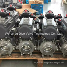 Pneumatic Control Actuator Butt-Weld Ball Valve for Water Treatment