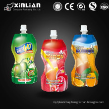 China made laminate material stand up juice packaging spout pouch