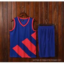Poliéster feito sob encomenda novo do desgaste 100% do basquetebol do jérsei do basquetebol da camisa do esporte do homem