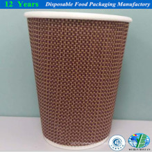 Круглая настенная бумажная чашка с крышкой