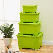 Recipiente de armazenamento de plástico de cor com doces para armazenamento doméstico