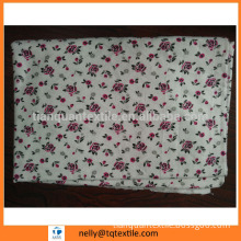 cvc flower printed flannel fabric double side brushed 32x12/40x45 for philippine