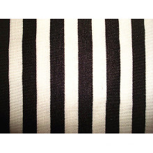 Tissu à manches courtes à rayures tissées à lait de Milano