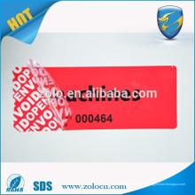 OPEN VOID pegatina / etiqueta de la garantía de impresión / etiqueta de sello de garantía