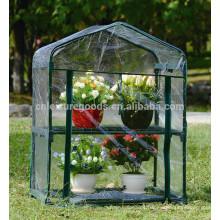 Aufzucht-Blumen-Anlage PVC-transparentes Gewächshaus