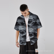 Tecido superfino Tecido com estampa floral Tecido elegante para camisas