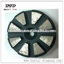 Speed Shift System Almohadillas de diamante de metal para máquina de hormigón Klindex