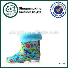 fashion rubber rain riding boots/ winter warm boys rain boots/\C-705